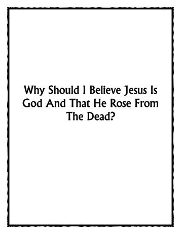 Why Should I Believe Jesus Is God And That He Rose ... - Daniel Akin