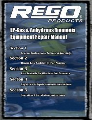 Repair Kits Available By Part Number Section 2 Page - GAMECO