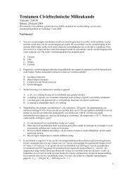 Tentamen Civieltechnische Milieukunde - ConcepT