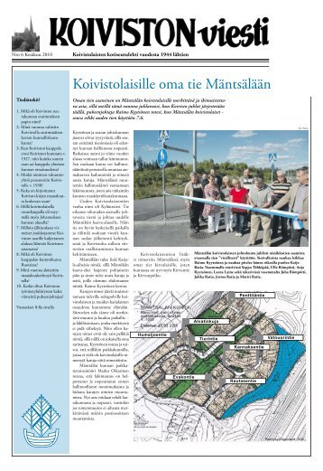 Koivistolaisille oma tie Mäntsälään - Suomen Koivisto seura ry