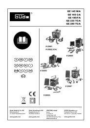 GE 145 W/A GE 165 C/A GE 185/F/A GE 235 TC/A GE 290 TC/A