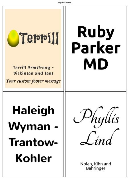 Template Similar To Avery L7169j8169 Name
