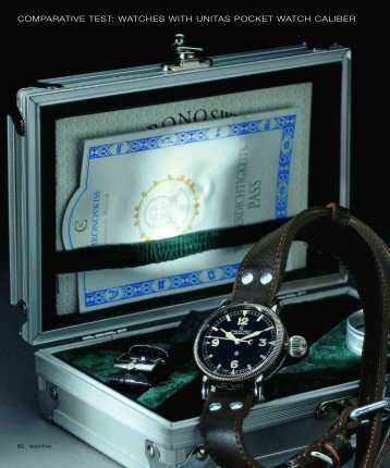 comparative test: watches with unitas pocket watch caliber
