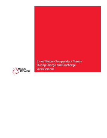 Li-ion Battery Temperature Trends During Charge ... - Micro Power