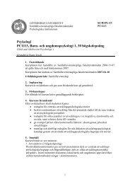och ungdomspsykologi 1, 30 högskolepoäng - Psykologiska ...