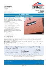 Bauclad External Cladding Panels - British Board of Agrement