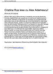 Cristina Rus iese cu Alex Adamescu! - Fete la Moda