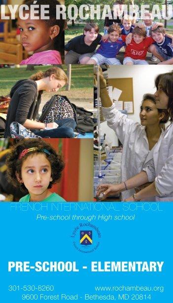 Pre-School and Elementary School Presentation - Lycée Rochambeau