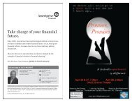 Take charge of your financial future. - Danville Light Opera