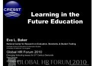 Learning in the Future Education - Global HR Forum