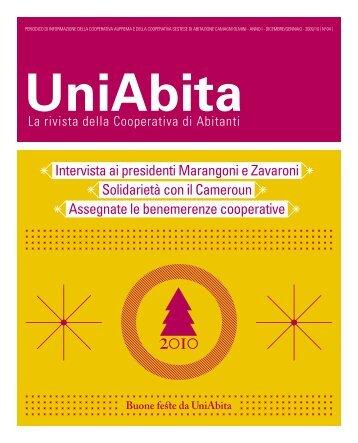Intervista ai presidenti Marangoni e Zavaroni Solidarietà ... - Uniabita