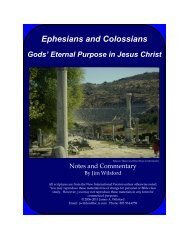 Ephesians and Colossians: God's Eternal ... - Gospel Lessons