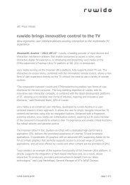 ruwido brings innovative control to the TV