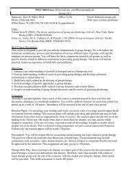 PSYC 5810 G Spring 2012 Instructor: Kurt D. Baker, Ph.D Office ...