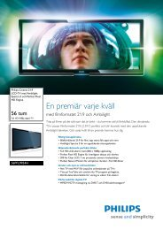 56PFL9954H/12 Philips LCD-TV med Ambilight ... - Reference Audio