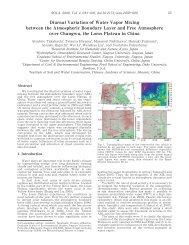 Diurnal Variation of Water Vapor Mixing between the Atmospheric ...