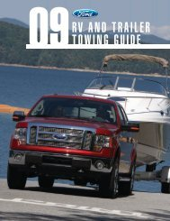 Ford 2009 E-Series Towing Guide