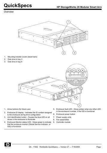 HP StorageWorks 20 Modular Smart Array
