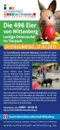 Die 496 Eier - Urlaub Lutherstadt Wittenberg