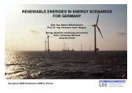 renewable energies in energy scenarios for germany - AAEE