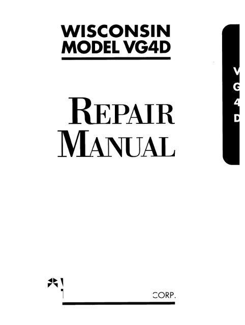 WISCONSIN MODEL VG4D - Wisconsin Motors | Wisconsin Vh4d Wiring Diagram |  | Yumpu