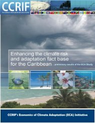 Enhancing the climate risk and adaptation fact base for the Caribbean