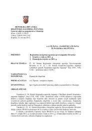 1. Izvješće o radu za 2011. g., 2. Financijsko izvješće za - Krapinsko ...