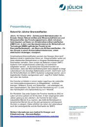Rekord für Jülicher Brennstoffzellen (PDF 41 KB) - Clean Power Net