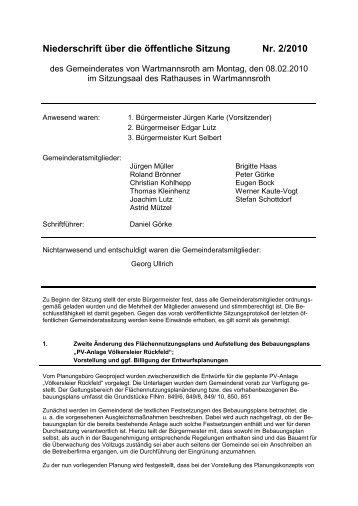 Text - Gemeinde Wartmannsroth