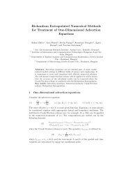 Richardson Extrapolated Numerical Methods for Treatment of One ...
