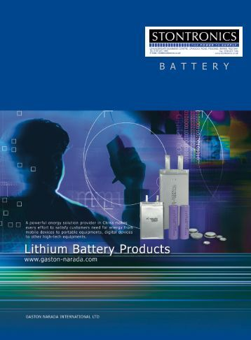Li-ion Batteries - Stontronics