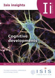 Cognitive developments - Isis Innovation