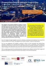 Singapore International Arbitration Academy 2013