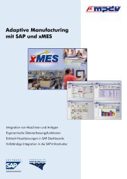 Adaptive Manufacturing mit SAP und xMES