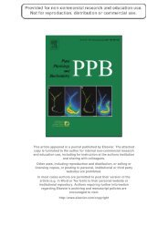 Within-plant distribution and emission of sesquiterpenes from ...
