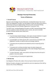 Draft Terms of Reference - Manchester Strategic Housing Partnership