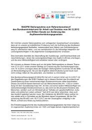 BAGFW Stellungnahme zum Referentenentwurf des ... - Migration
