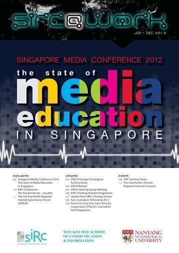 SiRC @ Work - Vol 2 Issue 1 (July - December 2012)