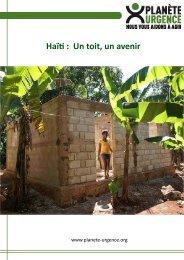 Haïti : Un toit, un avenir - Planète Urgence