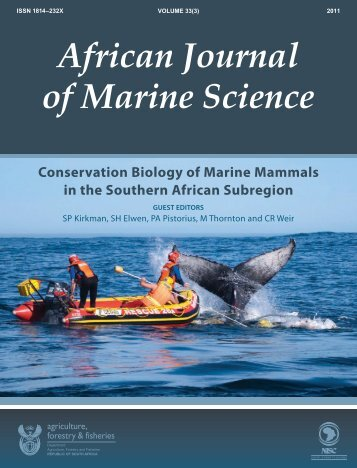 AFRICAN JOURNAL OF MARINE SCIENCE - Oceans Research