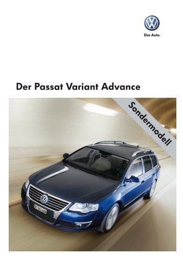 Der Passat Variant Advance - Sprüngli Druck AG
