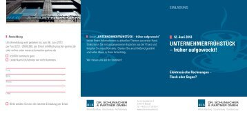 Einladung UNTERNEHMERFRÜHSTÜCK 12.06.2013 - Dr ...