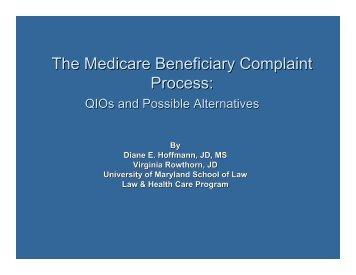presentation slides - Center for Medicare Advocacy