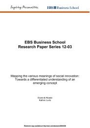 Mapping the various meanings of social innovation - INIT