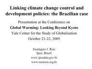 the Brazilian case Eustáquio J. Reis IPEA, Brazil - Yale Center for ...