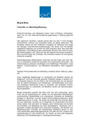 Controller vs. Marketing/Werbung, Brand Eins, 4. Januar 2008