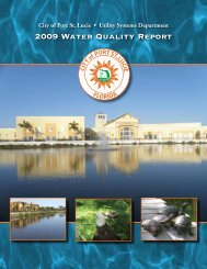 2009 Water Quality Report | Utility Systems | City of Port St. Lucie ...