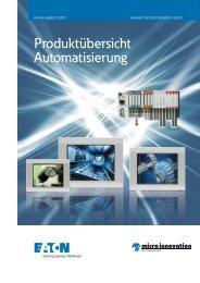 Produktübersicht Automatisierung - Micro Innovation