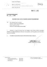 Memo No. 180, S. 2012 - DepEd Cebu Province