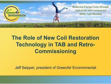 The Role of New Coil Restoration Technology in TAB and ... - NEBB